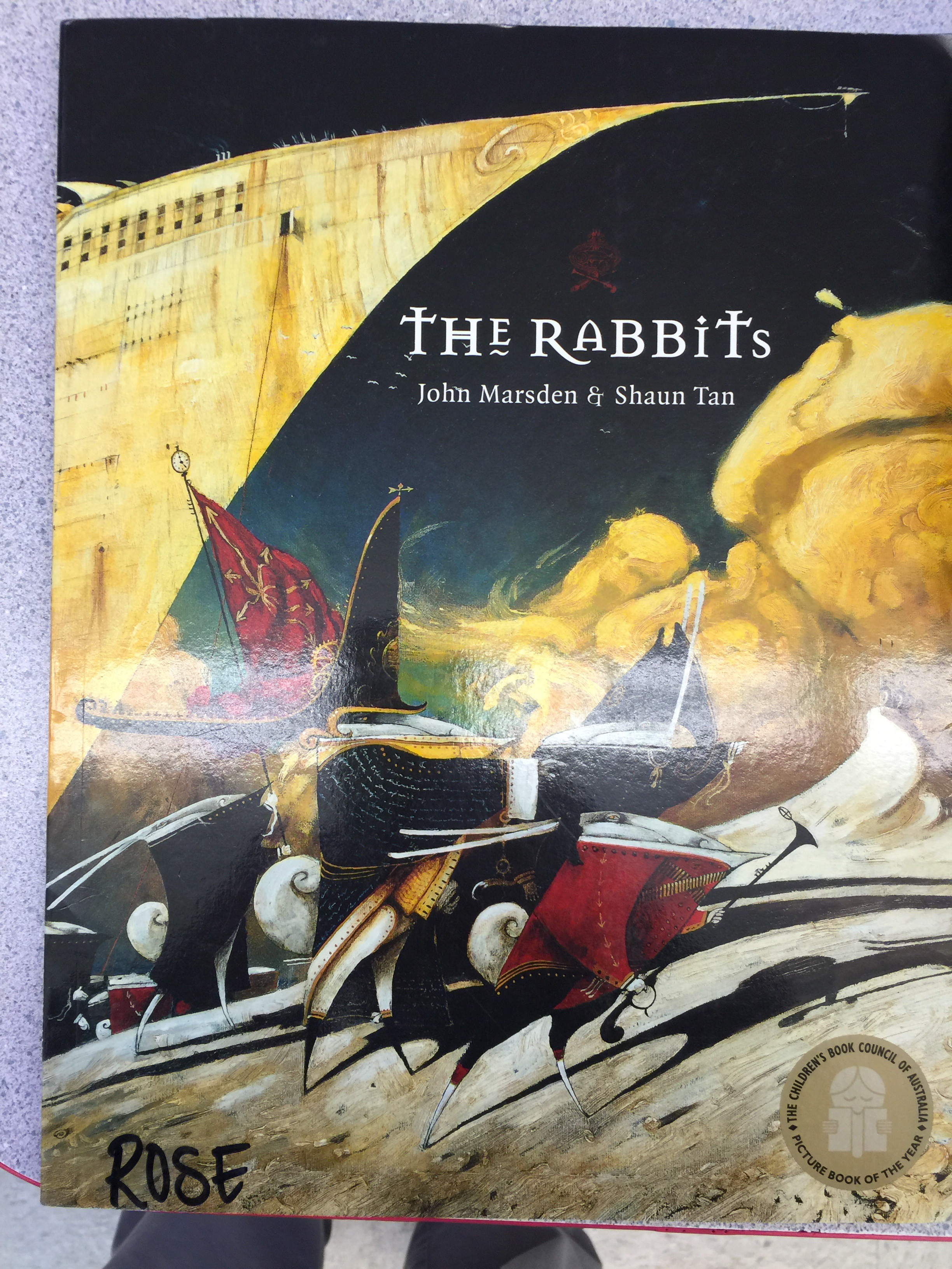 the rabbits john marsden analysis John marsden and shaun tans 1998 picture book the rabbits is a thin volume with a lot of story its a tale of colonisation a primordial landscape of burned ochre desert and limpid blue billabongs is disturbed by the arrival of a foreign race of rabbits.